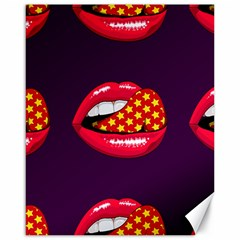 Lip Vector Hipster Example Image Star Sexy Purple Red Canvas 16  X 20   by Mariart