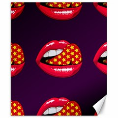 Lip Vector Hipster Example Image Star Sexy Purple Red Canvas 20  X 24   by Mariart