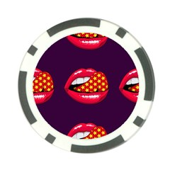 Lip Vector Hipster Example Image Star Sexy Purple Red Poker Chip Card Guard (10 Pack) by Mariart