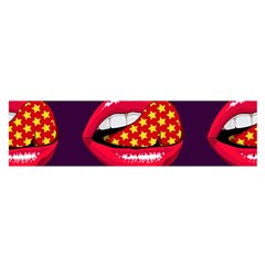 Lip Vector Hipster Example Image Star Sexy Purple Red Satin Scarf (oblong)