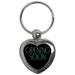 Opening Soon Sign Key Chains (heart)  by Mariart