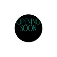 Opening Soon Sign Golf Ball Marker (4 Pack) by Mariart