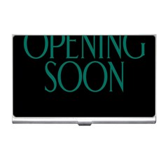 Opening Soon Sign Business Card Holders by Mariart