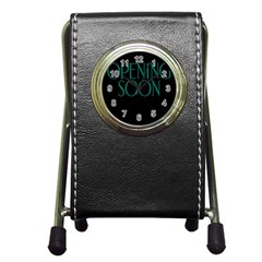 Opening Soon Sign Pen Holder Desk Clocks by Mariart