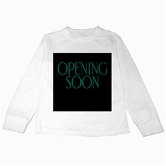Opening Soon Sign Kids Long Sleeve T-shirts by Mariart