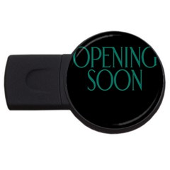 Opening Soon Sign Usb Flash Drive Round (4 Gb) by Mariart