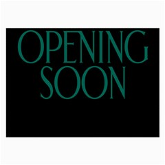 Opening Soon Sign Large Glasses Cloth (2 Side) by Mariart
