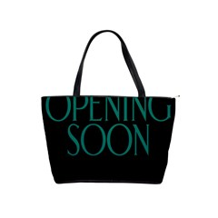 Opening Soon Sign Shoulder Handbags by Mariart