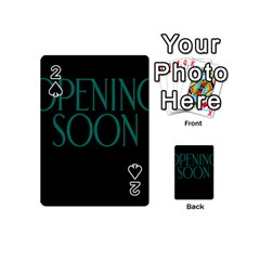 Opening Soon Sign Playing Cards 54 (mini)  by Mariart