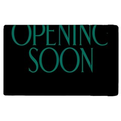 Opening Soon Sign Apple Ipad 2 Flip Case by Mariart