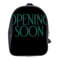 Opening Soon Sign School Bags (xl)  by Mariart