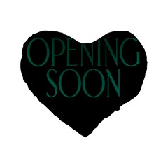 Opening Soon Sign Standard 16  Premium Heart Shape Cushions by Mariart