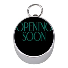 Opening Soon Sign Mini Silver Compasses by Mariart