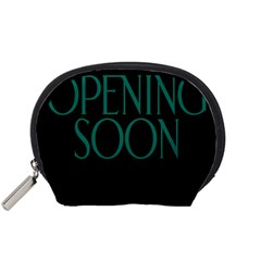 Opening Soon Sign Accessory Pouches (small)  by Mariart