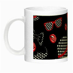 Lip Hat Vector Hipster Example Image Star Sexy Black Red Night Luminous Mugs by Mariart