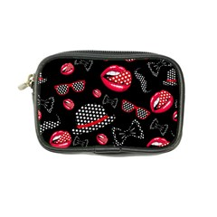 Lip Hat Vector Hipster Example Image Star Sexy Black Red Coin Purse by Mariart
