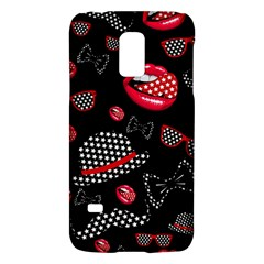 Lip Hat Vector Hipster Example Image Star Sexy Black Red Galaxy S5 Mini