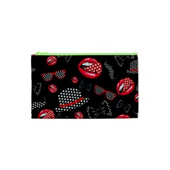 Lip Hat Vector Hipster Example Image Star Sexy Black Red Cosmetic Bag (xs) by Mariart