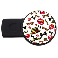 Lip Hat Vector Hipster Example Image Star Sexy Usb Flash Drive Round (4 Gb) by Mariart
