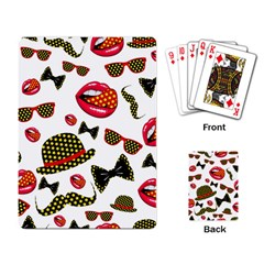 Lip Hat Vector Hipster Example Image Star Sexy Playing Card by Mariart
