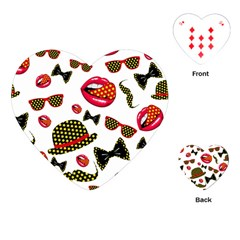 Lip Hat Vector Hipster Example Image Star Sexy Playing Cards (heart)  by Mariart