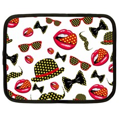 Lip Hat Vector Hipster Example Image Star Sexy Netbook Case (xxl)  by Mariart