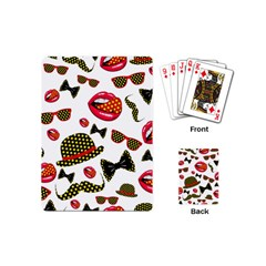 Lip Hat Vector Hipster Example Image Star Sexy Playing Cards (mini)  by Mariart