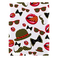 Lip Hat Vector Hipster Example Image Star Sexy Apple Ipad 3/4 Hardshell Case by Mariart