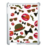 Lip Hat Vector Hipster Example Image Star Sexy Apple iPad 3/4 Case (White) Front