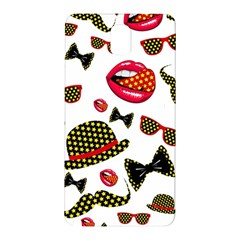 Lip Hat Vector Hipster Example Image Star Sexy Samsung Galaxy Note 3 N9005 Hardshell Back Case by Mariart