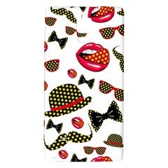 Lip Hat Vector Hipster Example Image Star Sexy Galaxy Note 4 Back Case by Mariart