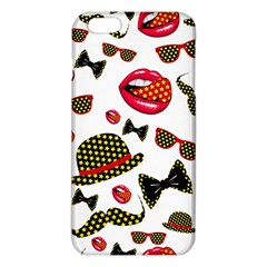 Lip Hat Vector Hipster Example Image Star Sexy Iphone 6 Plus/6s Plus Tpu Case by Mariart