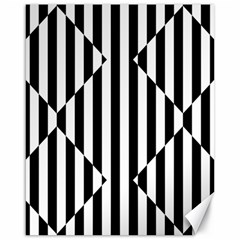 Optical Illusion Inverted Diamonds Canvas 16  X 20   by Mariart