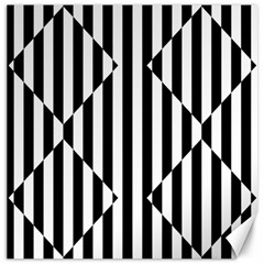 Optical Illusion Inverted Diamonds Canvas 20  X 20   by Mariart