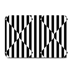 Optical Illusion Inverted Diamonds Plate Mats by Mariart