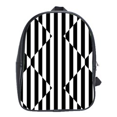 Optical Illusion Inverted Diamonds School Bags(large)