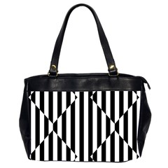 Optical Illusion Inverted Diamonds Office Handbags (2 Sides)  by Mariart