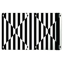 Optical Illusion Inverted Diamonds Apple Ipad 2 Flip Case by Mariart