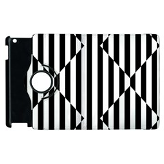 Optical Illusion Inverted Diamonds Apple Ipad 3/4 Flip 360 Case by Mariart