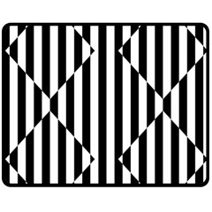 Optical Illusion Inverted Diamonds Double Sided Fleece Blanket (medium)  by Mariart