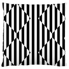 Optical Illusion Inverted Diamonds Large Flano Cushion Case (two Sides) by Mariart