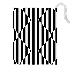 Optical Illusion Inverted Diamonds Drawstring Pouches (xxl) by Mariart