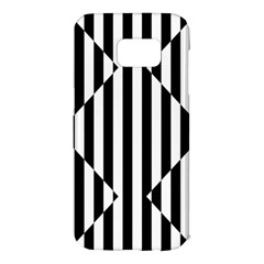 Optical Illusion Inverted Diamonds Samsung Galaxy S7 Edge Hardshell Case by Mariart