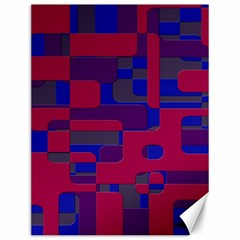 Offset Puzzle Rounded Graphic Squares In A Red And Blue Colour Set Canvas 12  X 16