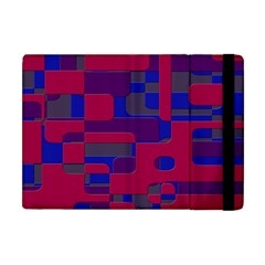 Offset Puzzle Rounded Graphic Squares In A Red And Blue Colour Set Apple Ipad Mini Flip Case
