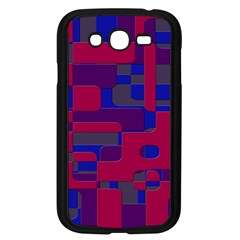 Offset Puzzle Rounded Graphic Squares In A Red And Blue Colour Set Samsung Galaxy Grand Duos I9082 Case (black) by Mariart