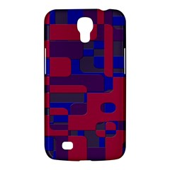 Offset Puzzle Rounded Graphic Squares In A Red And Blue Colour Set Samsung Galaxy Mega 6 3  I9200 Hardshell Case by Mariart