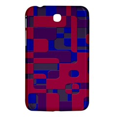 Offset Puzzle Rounded Graphic Squares In A Red And Blue Colour Set Samsung Galaxy Tab 3 (7 ) P3200 Hardshell Case  by Mariart