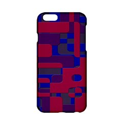 Offset Puzzle Rounded Graphic Squares In A Red And Blue Colour Set Apple Iphone 6/6s Hardshell Case by Mariart