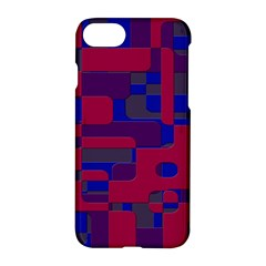 Offset Puzzle Rounded Graphic Squares In A Red And Blue Colour Set Apple Iphone 7 Hardshell Case by Mariart